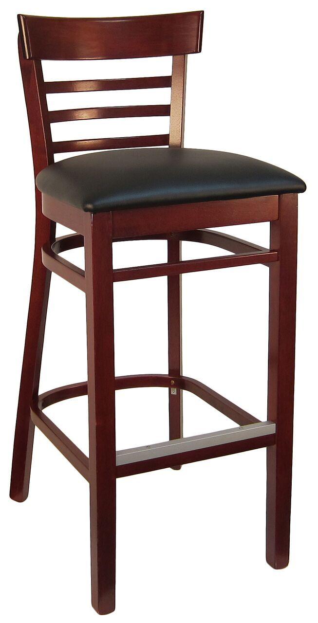Hardwood Steakhouse Barstool Restaurant Furniture Chairs