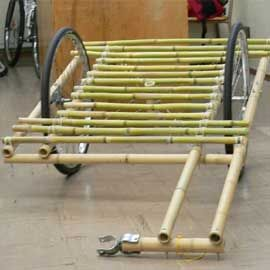 One of the problems of todays society is that hardly anyone knows how to make things. This image shows that a couple of bike parts and some sticks can make something very useful.