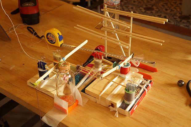 オトナも大好き、ピタゴラ装置を作ろう!   fabcross