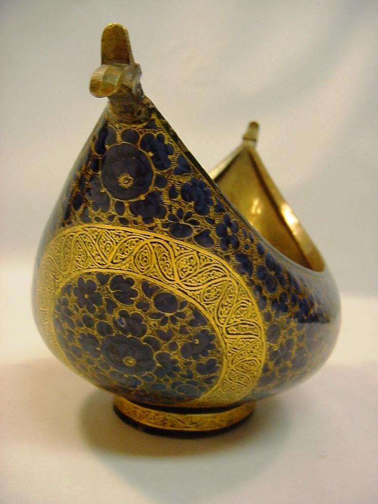 Antique_ Qajar:  boat- shaped KASHKUL (or dervish´s begging bowl?)
