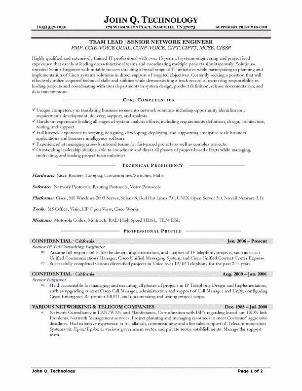 Network Engineer Resume Examples Luxury Senior Network Engineer Resume In 2020 Network Engineer Resume Examples Sample Resume