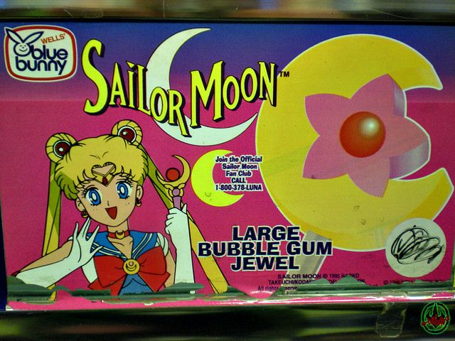Blue Bunny Sailor Moon Bar Vendor Sticker 1996 Food And