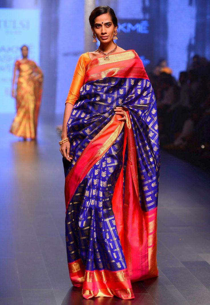 A dual-toned kancheepuram #saree by #TulsiSilks