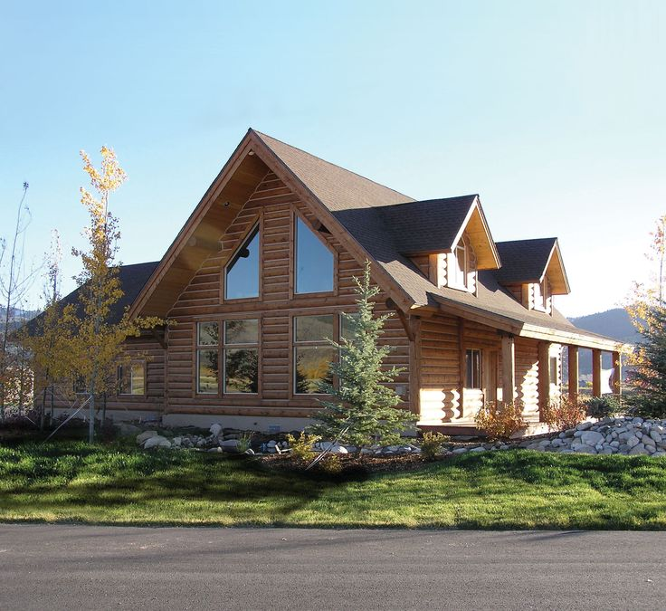 17 best ideas about log home plans on pinterest log for Log garage plans
