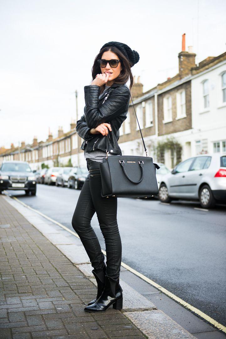 T-shirt  Abercrombie & Fitch/ Jeans ,Beanie, Boots & Jacket  Zara/  Bag , Michael Kors