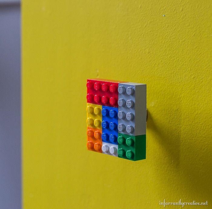 Delightful DIY Lego Table With Custom Lego Knobs