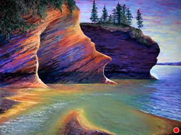"""St. Martins Caves by David Reeves Pastel ~ 18"""" x 24"""""""
