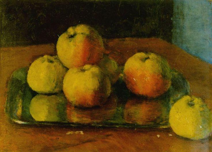 Still life with apples   Kunffy Lajos   1949   Rippl - Rónai Megyei Hatókörű Városi Múzeum - Kaposvár   CC BY