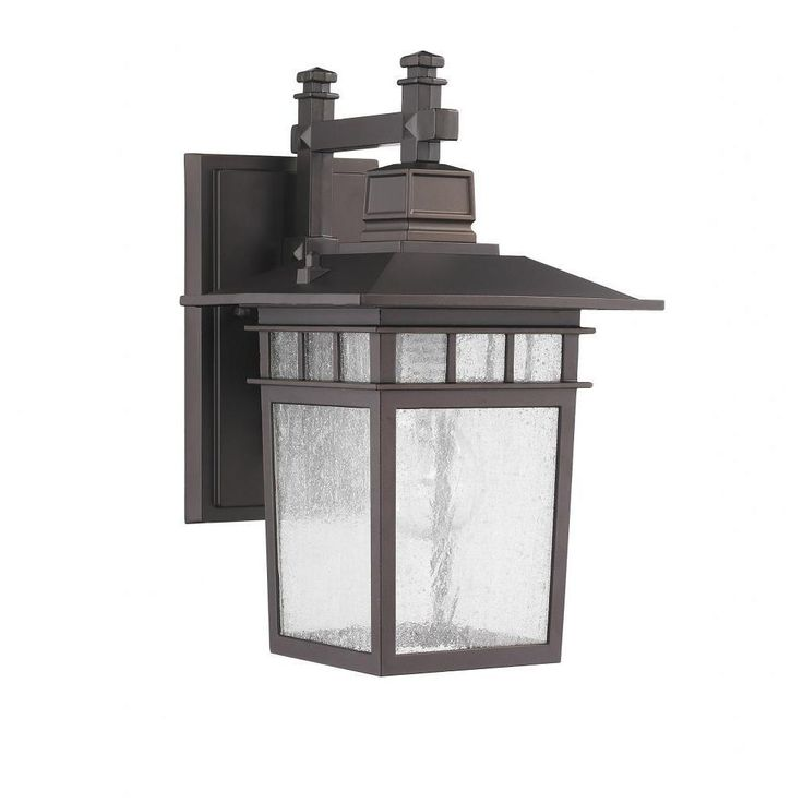 This Transitional one-light outdoor wall light fixture features clear seedy glass and will complement your outdoor decor. This wall-mounted outdoor light fixture is weatherproof and corrosion resistant.  Overstock $64