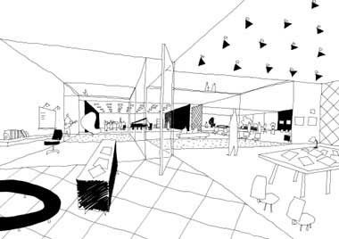 Sanaa_Ryue Nishizawa /// Competition for a cultural center_Sketch
