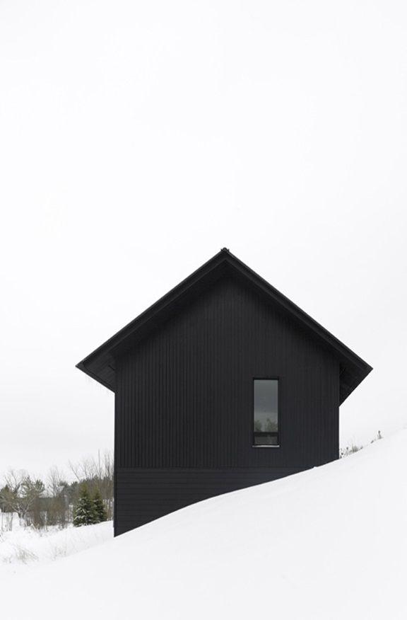 negative space    (alternately, snow + black)