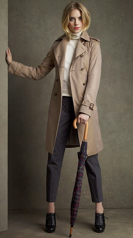 Cotton Trench Coat by Brooks Brothers