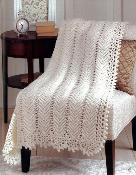 Vintage Ripple Crochet Afghan Pattern : 17 Best images about Afghans on Pinterest Free pattern ...
