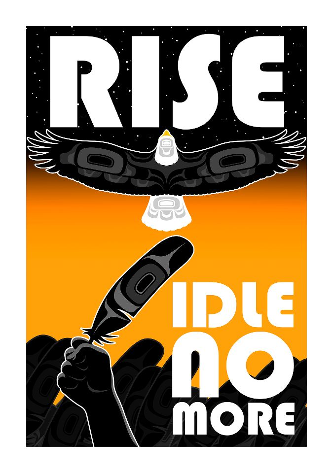 Artwork by Andy Everson #IdleNoMore