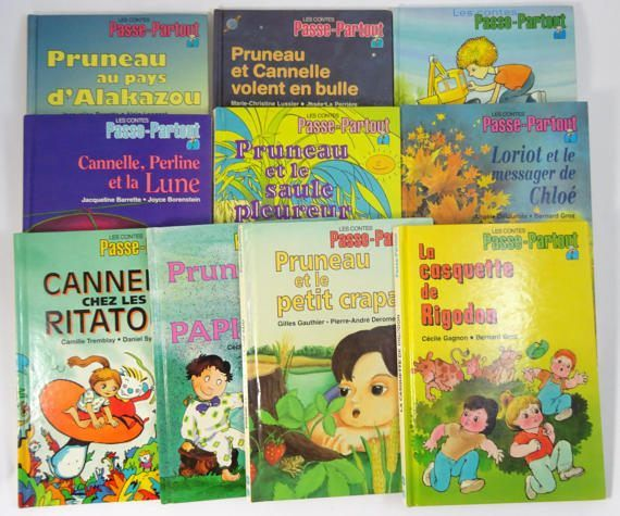 Lot de 10 livres des Contes de Passe-Partout. 10 vintage Passe-Partout French language story books. #adoredblessings