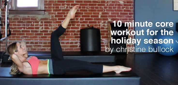 10-Minute Core Workout By Christine Bullock - Move Nourish Believe