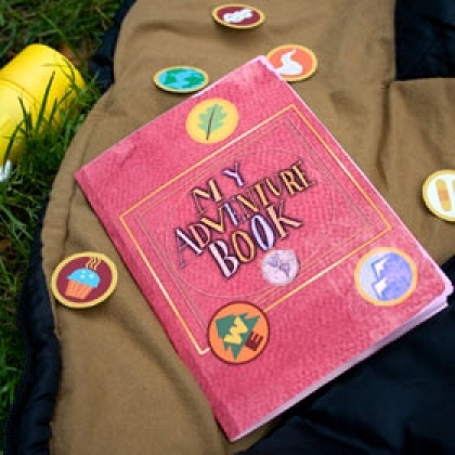 """UP adventure book. """"Thanks for the adventure . . .now go make a new one."""" Great for summer fun or a great gift for Grandma of all their adventures."""