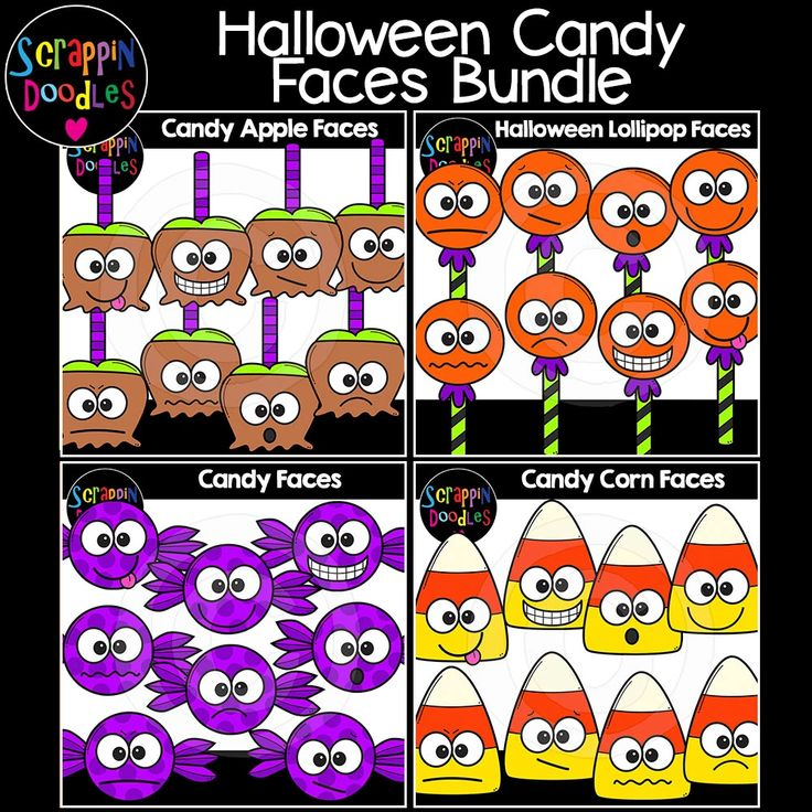 Halloween Candy Faces Clip Art Bundle Free halloween