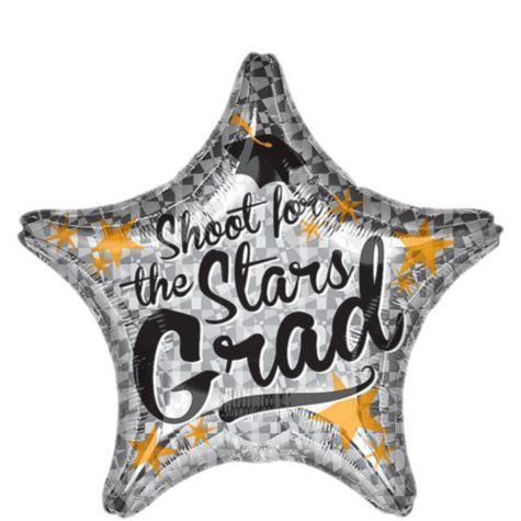 Graduation Balloon – Shoot for the Stars 19in – Party City