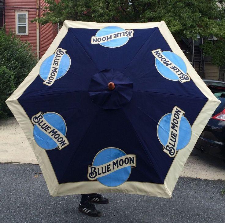 Blue Moon Belgium Ale Beer Pool Beach Patio Umbrella Large 7 U0027 Tall