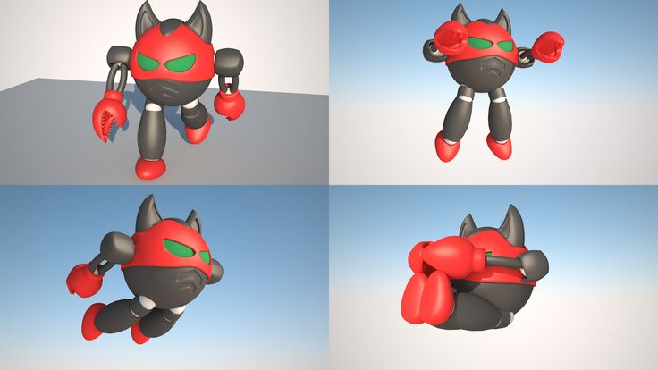 modelling and rigging a robot low poly in 3ds max 2014