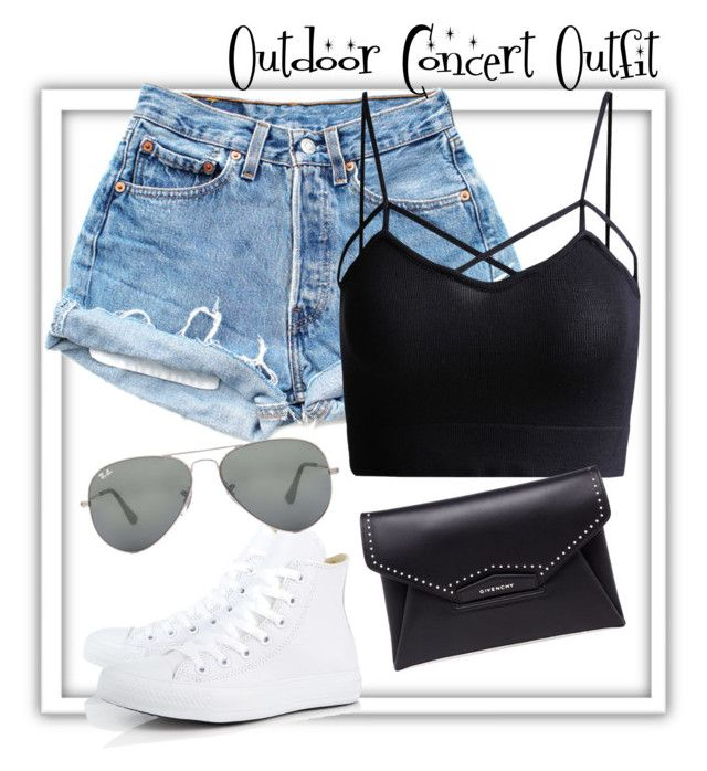 """""""Outdoor Concert Outfit"""" by lexy200105 ❤ liked on Polyvore featuring Converse, Givenchy and Ray-Ban"""
