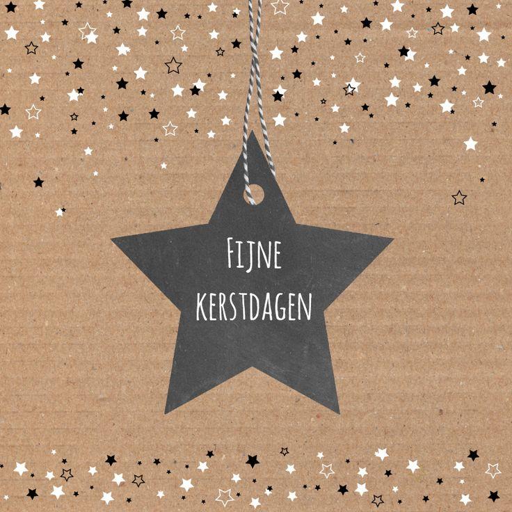 Kerst - Karton, sterren, verkrijgbaar bij #kaartje2go voor €1,89