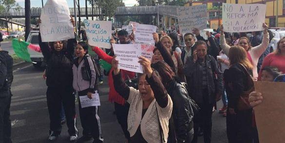 CNTE y CETEG realizan protestas contra la reforma educativa