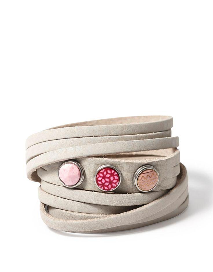 NOOSA Armband - Multi Wrap Light Grey