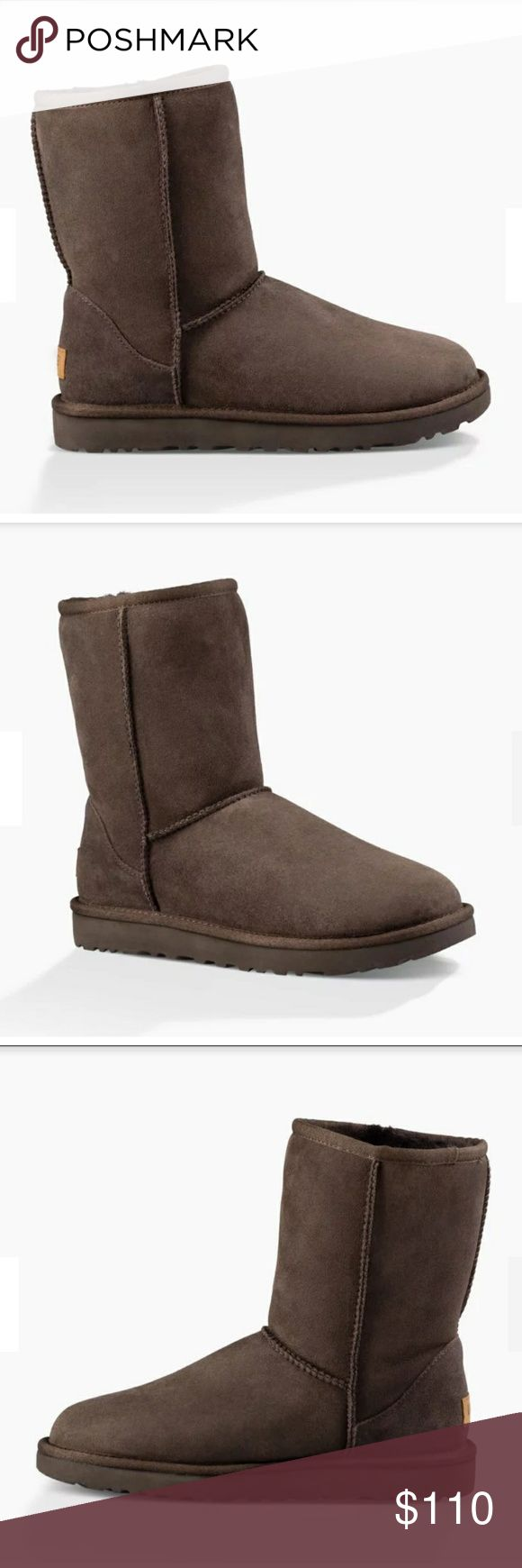 """Classic UGG short chocolate boots New, never worn """"Classic 2 Short Boots"""" in the color """"Chocolate"""". Real UGGs. UGG Shoes"""