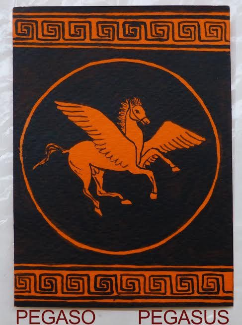 ACEO creature mitiche. #Pegaso di #MITOliberty CLICK TO SEE THE NEW PRICE