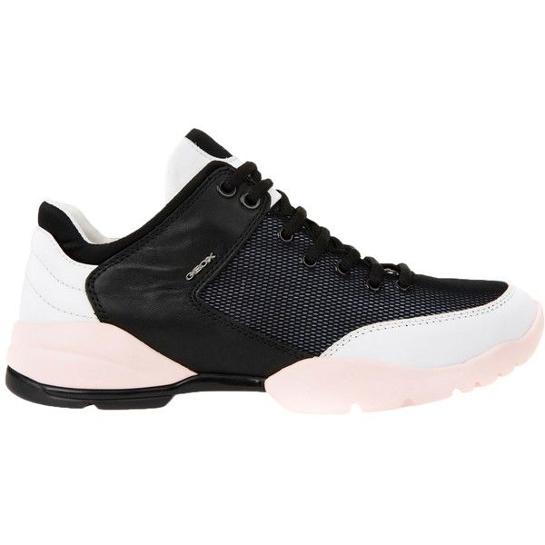 Geox Sfinge Breatheable Trainers (265 PLN) ❤ liked on Polyvore featuring shoes, sneakers, breathable sneakers, canvas low-top sneakers, leather sneakers, geox shoes and sport shoes