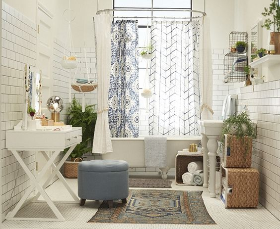 White Bohemian Bedroom best 25+ bohemian bathroom ideas on pinterest | eclectic bathtubs