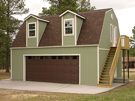 Tuff shed online price quotes for storage sheds for Two story garage kits