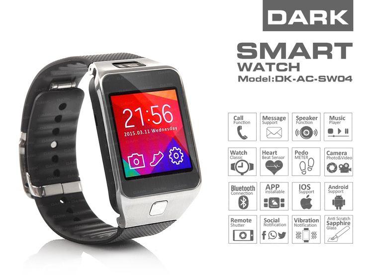 Dark SW04 Smart Design Android ve IOS Uyumlu Akıllı Saat :: DEVesnaf