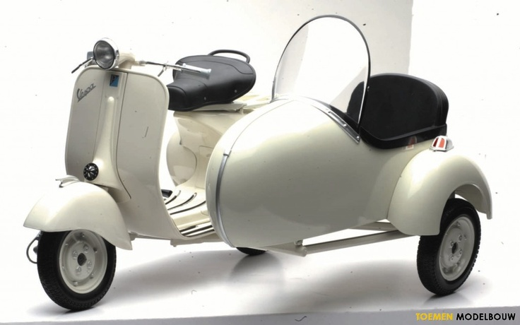 Vespa 1955 SideCar - this is just lovely and I don't understand why I can't have one just like it...