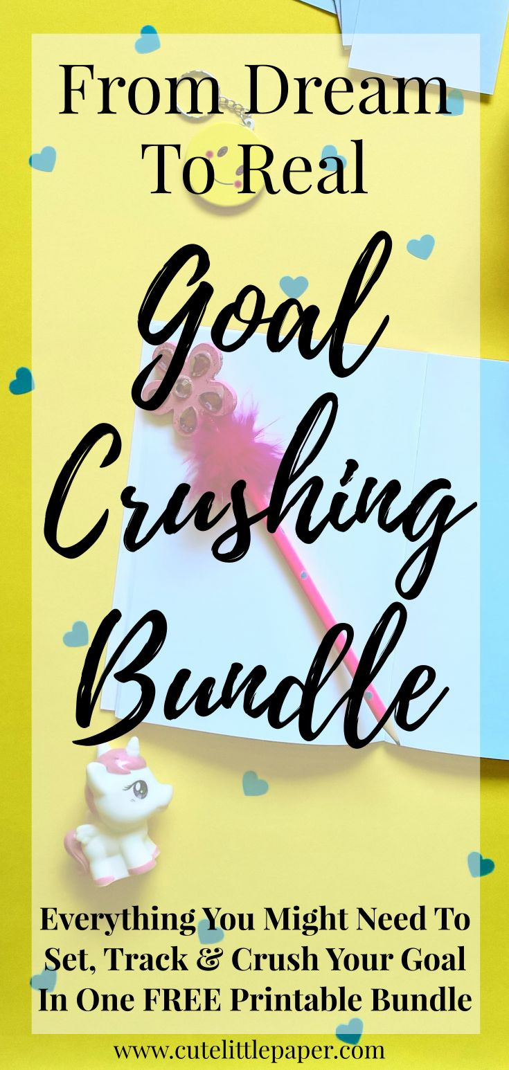 Hey, this goal crushing bundle contains 2018 calendar, SMART goal template, tasks and actions planner page template, and 7 different lists! All free! Wow!