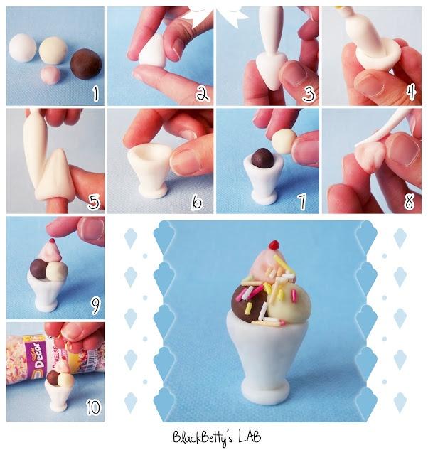 step by step fimo ice cream tutorial