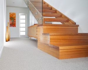 A superb textured loop-pile carpet, featuring contrasting colours, ideal for residential applications.