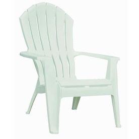 Adams Mfg Corp White Resin Stackable Patio Adirondack Chair 8371 48 97