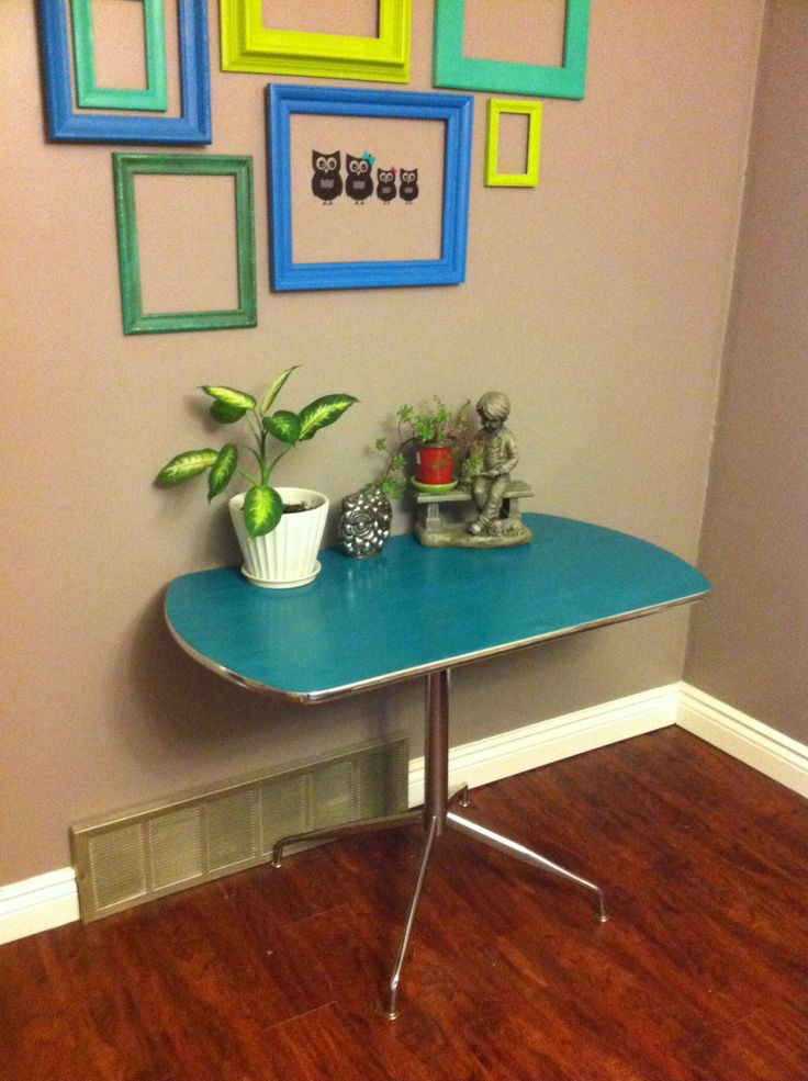 Painted Formica Table Redo Painted With Chalk Paint Then