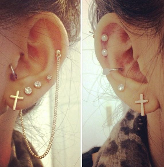 I looove her ears. This is me in the process. i want them FULL! Rings everrrrywhere