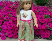"Strawberry Girl Playsuit fits 18"" American Girl® Dolls / Doll Clothes for American Girl Dolls"