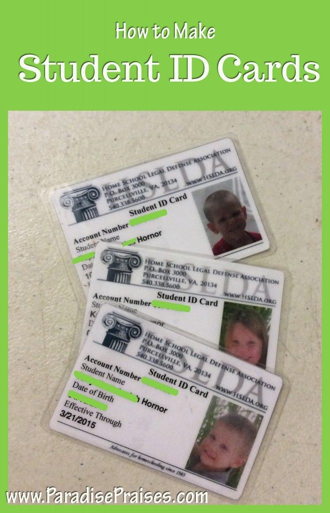 homeschool id card template - how to make student id cards free printable students