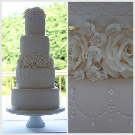 Downton Abbey Wedding Cake - by TiersandTiaras @ CakesDecor.com/#wedding#DowntonAbbey#decor#flowers#cake