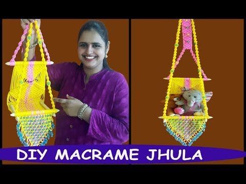 HOW TO MAKE Macrame Jhula Wall Hanging - YouTube