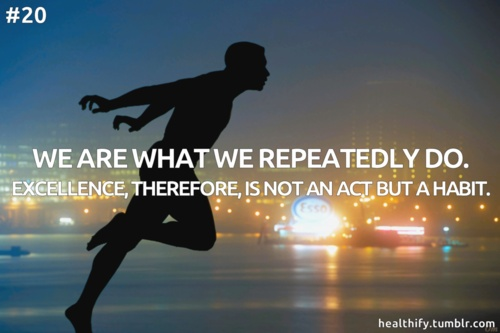 We are what we repeatedly do...