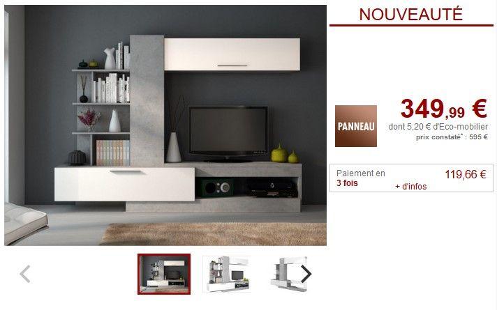 Mur Tv Avec Rangements Derek Pas Cher Meuble Tv Vente Unique Ventes Pas Cher Com Meuble Tv Meuble Tv Pas Cher Mur Tv