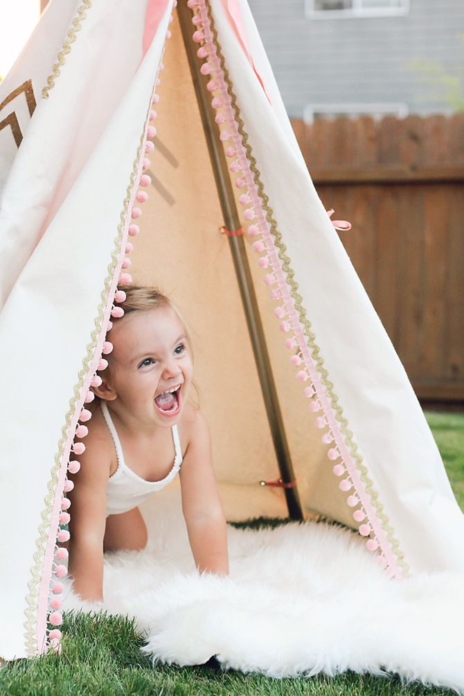 DIY gorgeous teepee