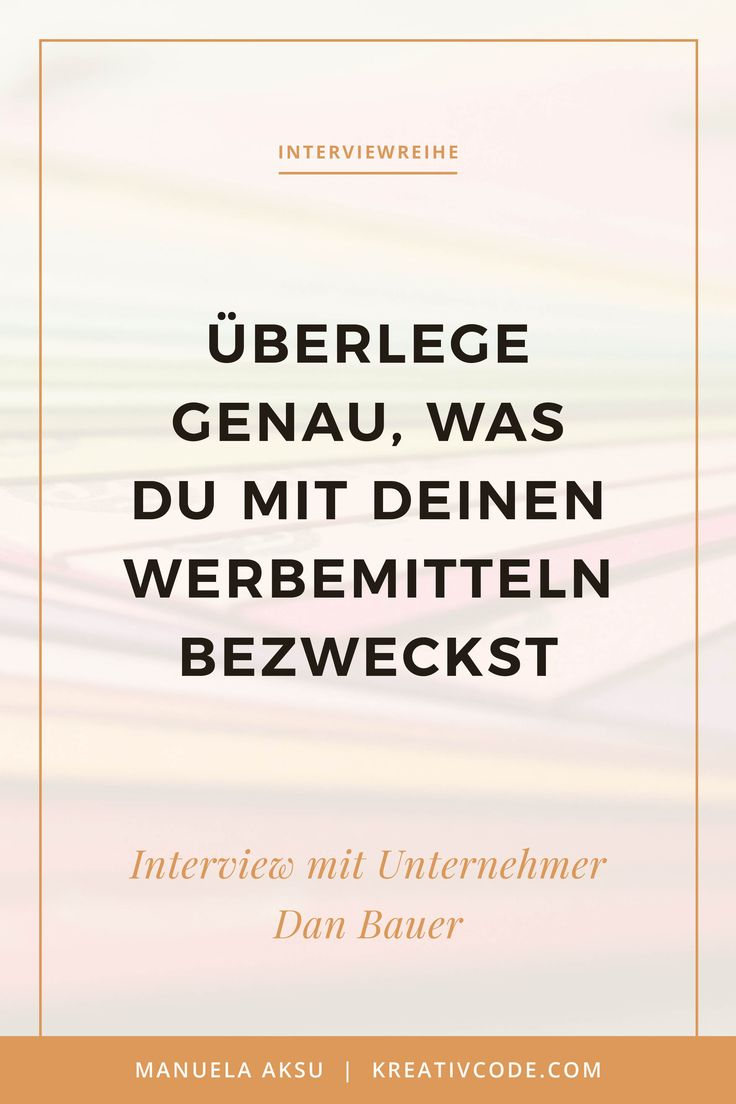 Grafikdesign für dein Business – Interview Dan Bauer